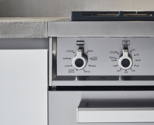 "36"" Professional Series range - Gas oven - 6 brass burners"