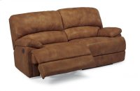 Dylan Leather Two-Cushion Chaise Reclining Sofa Product Image