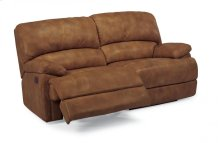 Dylan Leather Two-Cushion Chaise Reclining Sofa