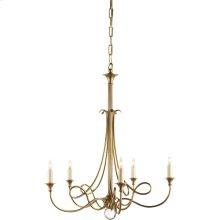 Visual Comfort SC5015HAB Eric Cohler Twist 5 Light 26 inch Hand-Rubbed Antique Brass Chandelier Ceiling Light
