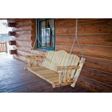 Montana Log Porch Swing Exterior Finish