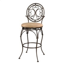 Big and Tall Scroll Circle Back Barstool