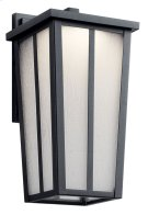 """Amber Valley 13"""" LED Wall Light Textured Black Product Image"""
