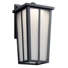 "Amber Valley 13"" LED Wall Light Textured Black"