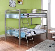 """Heavy Metal """"Pewter"""" Full Over Full Bunk Bed Product Image"""