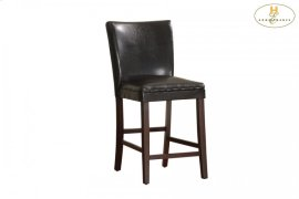 Counter Height Chair, Dark Brown Bi-Cast Vinyl