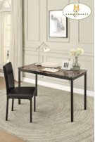 Writing Desk and Chair Table: 48 x 23.75 x 30H Chair: 17.5 x 20.5 x 37H Product Image