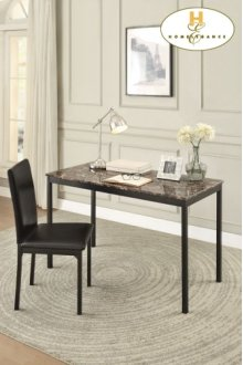 Writing Desk and Chair Table: 48 x 23.75 x 30H Chair: 17.5 x 20.5 x 37H