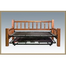 Homestead Day Bed with Trundle - Stained and Lacquered