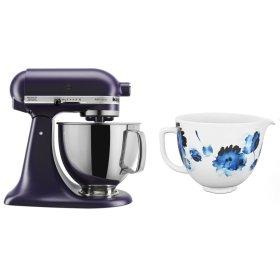Exclusive Artisan® Series Stand Mixer & Ceramic Bowl Set - Matte Black Violet