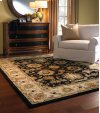 Eloquent Garden Brilliant Black Hand Tufted Rugs