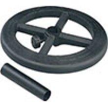"Stool Kit With Adjustable 19"" Diameter Black Nylon Foot Ring."