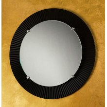 "Round Engraved Mirror- 3"" Border"