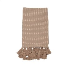 Hand Woven Kadin Throw Tan