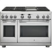 """GE Cafe™ Series 48"""" Dual-Fuel Professional Range with 6 Burners and Griddle (Natural Gas) Product Image"""