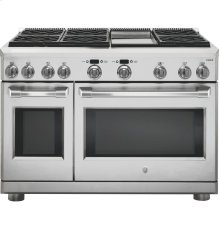 """GE Cafe™ Series 48"""" Dual-Fuel Professional Range with 6 Burners and Griddle (Natural Gas)"""