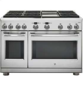 "GE Cafe™ Series 48"" Dual-Fuel Professional Range with 6 Burners and Griddle (Natural Gas)"
