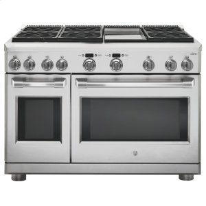 "GE CafeGE CAFEGE Cafe(TM) Series 48"" Dual-Fuel Professional Range with 6 Burners and Griddle (Natural Gas)"