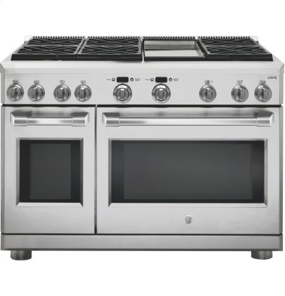 "GE Cafe™ Series 48"" Dual-Fuel Professional Range with 6 Burners and Griddle (Natural Gas) Product Image"