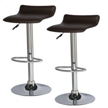 Brown Adjustable Swivel Bar Stool #10042DB - Set of 2