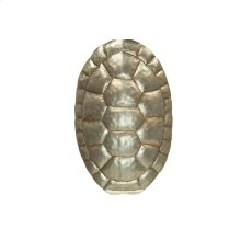 Turtle Shell Sconce In Silver Leaf. Ul Approved for One 40w Candelabra Bulb.
