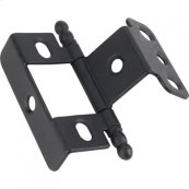 "3/4"" Frame x 3/4"" Door Flush Hinge Matte Black"