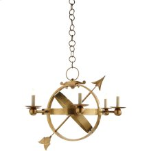 Visual Comfort SC5102HAB Eric Cohler Armillary 6 Light 35 inch Hand-Rubbed Antique Brass Chandelier Ceiling Light