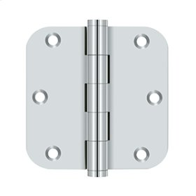 "3 1/2""x 3 1/2"" x 5/8"" Radius Hinge, Residential - Polished Chrome"