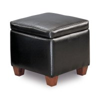 Causal Black Storage Ottoman Product Image