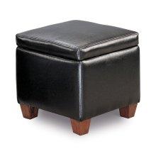 Causal Black Storage Ottoman