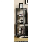 Contemporary Black and Silver Media Tower Product Image