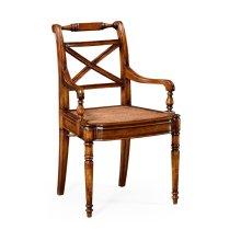 Regency Cross Frame Back Chair (Arm)