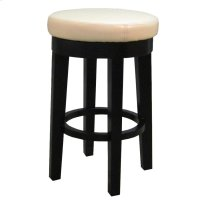 Cameron Bonded Round Swivel Counter Stool, Beige Product Image