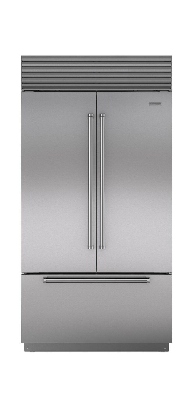 door aid at refrigerator in built steel kitchen cu doors width appliance us appliances stainless ft french