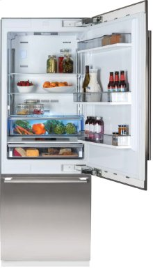 "30"" Built-in Fridge, Stainless Steel, with ice"