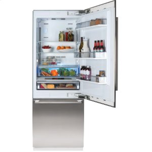 "Blomberg Appliances30"" Built-in Fridge, Stainless Steel, with ice"
