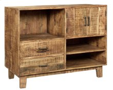 Bengal Manor Mango Wood Offset 2 Door 2 Drawer Console