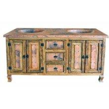 "72"" Copper Vanity W/Drawers"