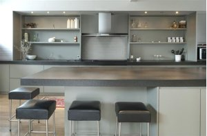"""Eclisse - 35-7/16"""" Stainless Steel Chimney Range Hood for use with a choice of Exterior or In-line blowers"""