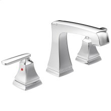 Chrome Two Handle Widespread Bathroom Faucet with EZ Anchor ®