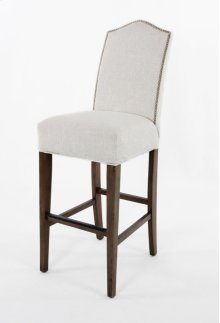 """Camel top barstool with small nails. 30"""" barstools have a seat height of 30"""" when measured"""