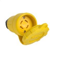 29W77 Watertight NEMA 4X/6P Locking Connector,Yellow
