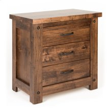 3 Drawer Wide Night Stand