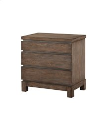 Emerald Home Vista 3 Drawer Nightstand Weathered Gray B242-04