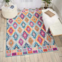 Passion Psn02 Multicolor Rectangle Rug 6'7'' X 9'6''