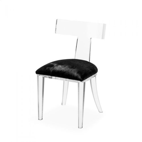 Tristan Klismos Chair - Black Hide