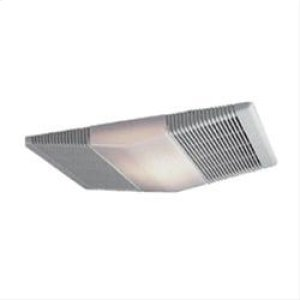 70 CFM Fan/Light with White Polymeric Lens and Rectangular Textured Polymeric Grille; 100-watt Incandescent Lighting Product Image
