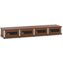 Synergy Solution 147, Quad-Width AV Cabinet, Cherry with Aluminum Posts
