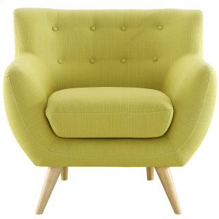 Remark Upholstered Fabric Armchair in Wheatgrass