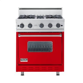 "Racing Red 30"" Open Burner Range - VGIC (30"" wide, four burners)"